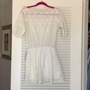 White Embroidered Sun Dress NWT